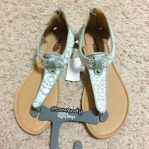 Charlotte Russe T-Strap Sandals